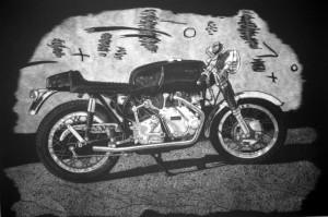 Norvin Motorcylce Print 2012
